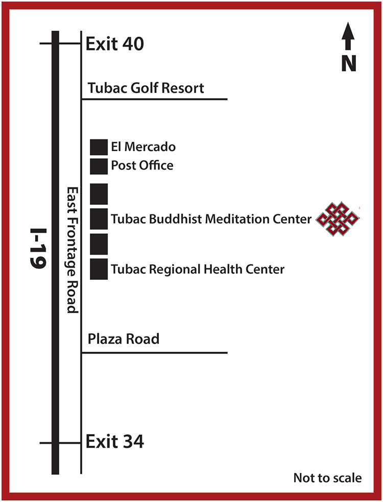 Map of Tubac Meditation Center